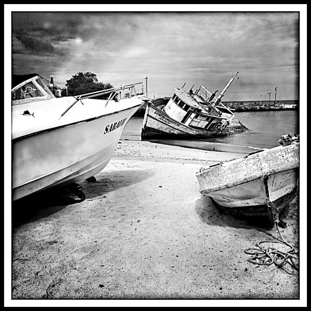 Beached Boats, San Christobal Island